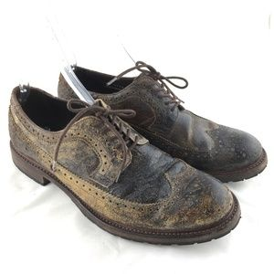 Sendra Sheffield shoes brown distressed wing tip